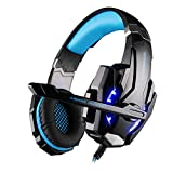 G9000 Headset Esports Game Voice with Micphone Headset Built-in 7.1 Surround Sound Card Noise Reduction Game Audio and Video Headphones, TV Computer, Monitor Headphones