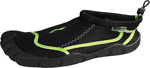 on Sock Ladies Lime Norty Black Slip Skeletoe Shoes Water Aqua w0qztdTq