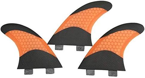 サーフフィンG7グラスファイバーフィンPranchasデハニカムオレンジと黒のサーフィンでサーフボードフィンスラスタ