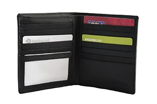 Men's Dalton Large Executive Leather Hipster Bifold Wallet (Collection Leather Hipster Wallet)