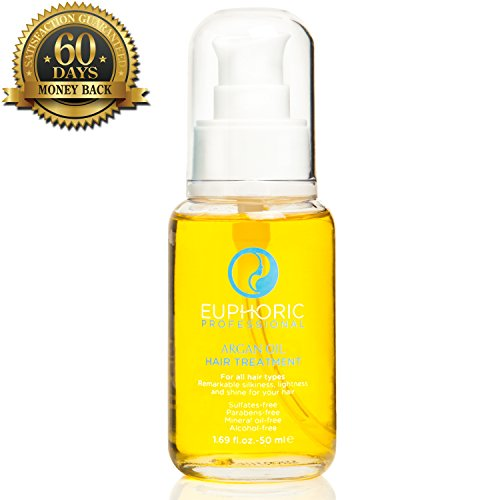 Euphoric Argan Oil for Hair - FREE Hairstyle Tips E-Book - Salon Quality Argan Oil Hair Treatment By Euphoric Professional Is A Top Premium Hair Oil, Conditioner, Damage Hair Repair and Dry Scalp Moisturizer That Immediately Replenish Hair's Natural Oils and Restore Hair Health
