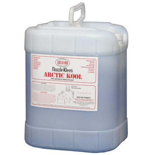 Weld-Aid Nozzle-Kleen Artic Kool Anti-Spatter and Torch Coolant Liquid, 5 gal
