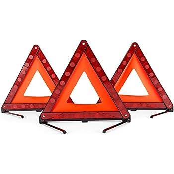 Amazon Dedc 3 Pack Warning Triangle Foldable Safety Triangle