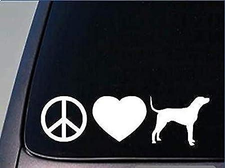 CELYCASY Peace Love Coonhound StickerH110 - Pegatina de ...