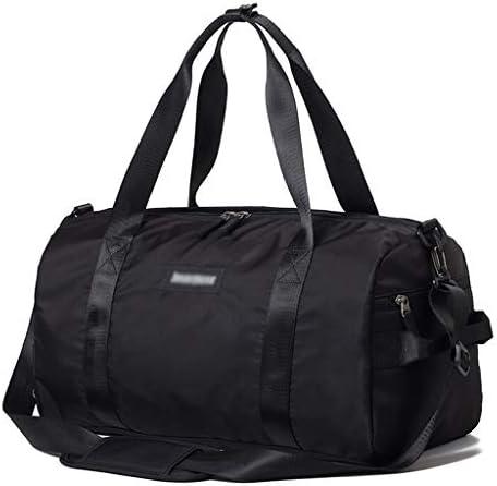 大容量防水旅行バッグショルダースポーツフィットネストレーニングバッグポータブルゴルフ衣料品収納袋ドライとウェットの分離デザイン、清潔で衛生的な46×22×24センチメートル HMMSP (Color : Pink)