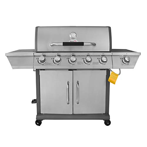 (Royal Gourmet Propane Gas Grill 5-Burner with Side Burner GG5302S, Stainless)