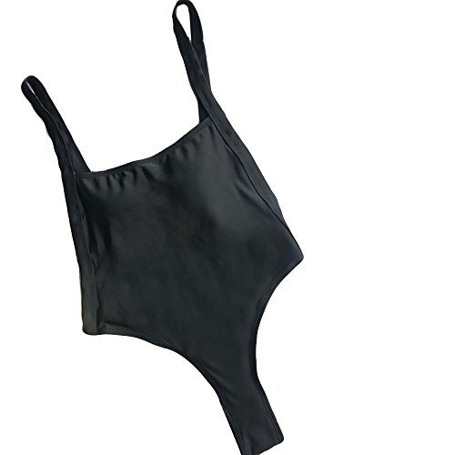 Monokini di Nero Weant mare Bikini Unita Backless High Up Push Monokini Sexy un brasiliana Monokini 5 Cut intero colori Donna swimsuit costume Bagno costumi da pezzo Sexy Tinta Donna AwfUIxwrq