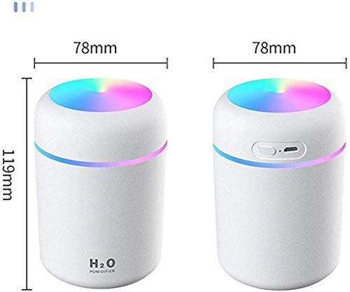 Todiri Mini Humidificador Portátil 300ml Humidificador De Niebla Fría con Luz Nocturna(Blanco)