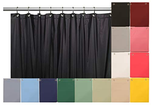 Venice Elegant Home Heavy Duty Vinyl Shower Curtain Liner with 12 Metal Grommets Black by Venice