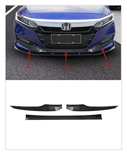 Jin cypress Carbon Fiber Front Bumper Lip Protection Cover Trim for Honda Accord 2018 2019 ()