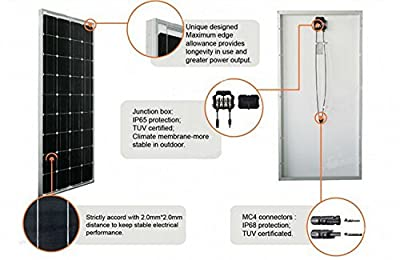 GOWE 200w solar panel fully output 200w 100usd off A grade cell 17% charging efficiency