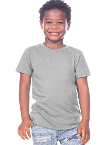 Kavio! Toddlers Crew Neck Short Sleeve Tee Jersey (Same TJC0440) Heather Gray 3T
