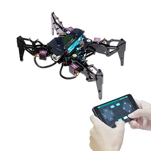 Adeept DarkPaw Bionic Quadruped Spider Robot Kit for Raspberry Pi 4 3 Model B+/B, STEM Crawling Robot, OpenCV, Self-stabilizing Based on MPU6050 Gyro Sensor, Raspberry Pi Robot with PDF Manual