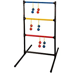 Champion Sports Outdoor Ladder Ball Game: Backyard Party, Camping & Beach Games Ladder Golf Set for Adults and Kids with Bolas Balls and Carrying Case