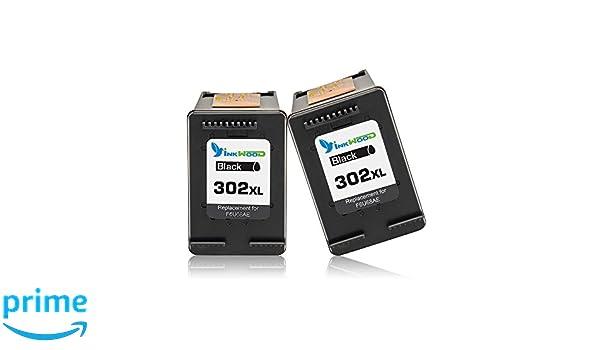 Inkwood 302XL - Cartuchos de Tinta para HP 302 302XL, Color Negro ...