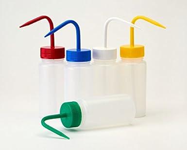 Azlon WGW446P - Pack de 5 botellas de plástico (cuello ancho, LDPE, 1000