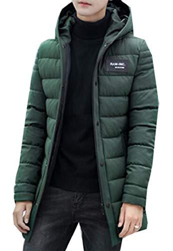 Cappotto Colore Addensare Gocgt Uomini Inverno Solido Cotone Piumino Degli Armygreen Di gdwq8Tp