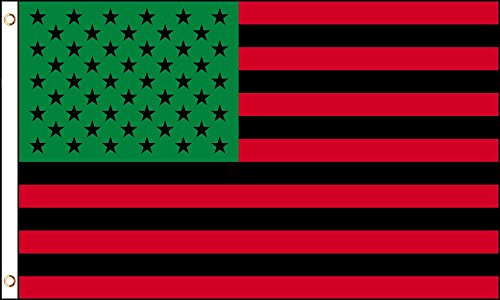 AZ FLAG United States Afro American Flag 3' x 5' - US Afro-American Flags 90 x 150 cm - Banner 3x5 ft