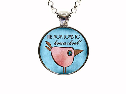 This Mom Loves To Homeschool Pendant Necklace