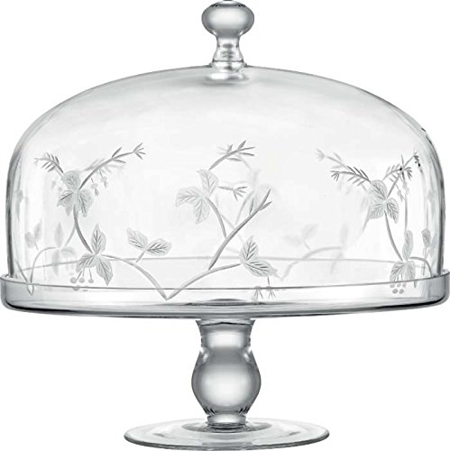 TABLE ART 4450C Sylvan Handmade Cake Stand and Dome Set, 11