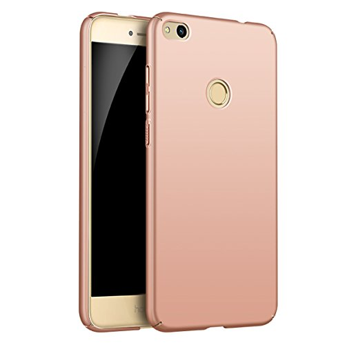Price comparison product image Huawei Honor 8 Lite Case Cover, Moonmini Slim Fit Ultra-thin Hard PC Full Body Protection Smooth Grip Back Case Cover Holder for Huawei Honor 8 Lite (Rose Gold)