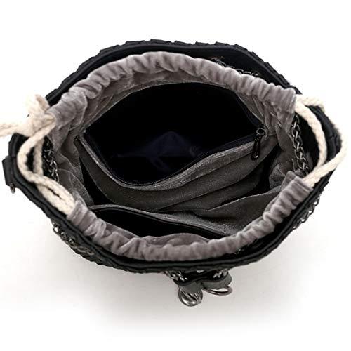 Cuir Rose Sacs Femme épaule main Cartable DEERWORD Noir Sacs Sacs portés main Sacs Faux portés bandoulière à Sacs w4TF1Fqx