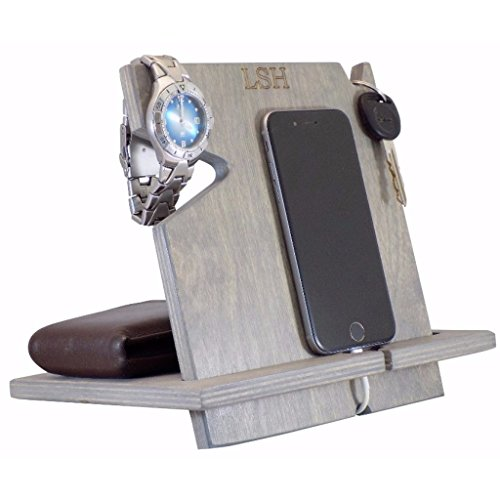 PERSONALIZED iPhone Docking Station, Valentine's Day Gift For Men, Universal Cell Phone Dock, Chrismas Gifts For Dad, Men, Husband, Boyfriend, Cell Phone Stand/Holder/Valet, Charging Station