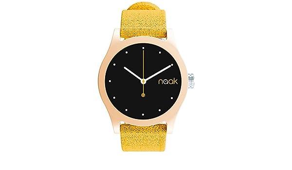 Naak Brown Mustard Reloj para Unisex Analógico de Cuarzo con Brazalete de Nylon 017-BM-RMK: Amazon.es: Relojes