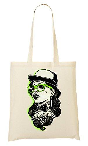 CP Golddigger Style| Sexy Girl | Pretty Woman | Great Tattoo | Cool T Shirt | Nice To | Super | Osom Lips | Modern Glasses Bolso De Mano Bolsa De La Compra