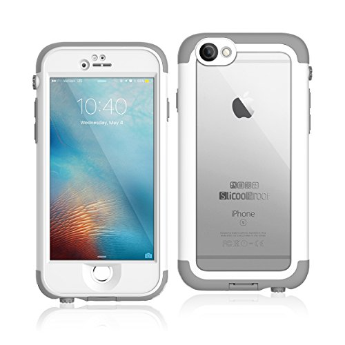 "Waterproof Case Compatible iPhone 6/6S, Slicoo IP68 Underwater Case Compatible iPhone 6/6S, Shockproof Dust Proof Snowproof Rain Proof, Full Protection Phone Case Cover for iPhone 6/6S (4.7"")"