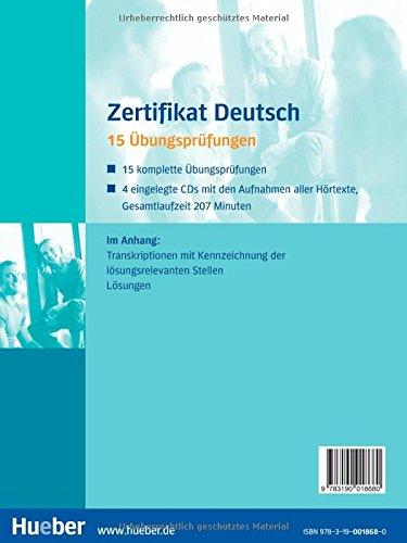 Zertifikat Deutsch Deutsch Als Fremdsprache übungsbuch Mit 4