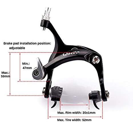 UPANBIKE Road Bicycle Fixed Gear Bike Aluminum Alloy Front Rear Caliper Brake
