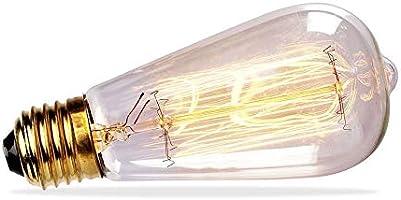 Vintage Retro Loft Edison Filament LED ST64 6 Watt Medium Base Bulb U.L.-Amber