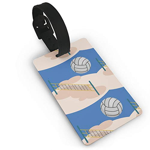 Cruise Luggage Bag Tags Travel Suitcases Tags Resealable Bag Tags With Adjustable Stainless Loop Name Id Labels - Volleyball Design Travel Id Identification ()