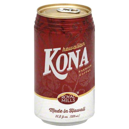 Royal Mills Premium Kona Coffee Drink, Coffee Drink Made In Hawaii, Ready to Drink - 11 Fl Oz | Pack of 24 by Royal Mills