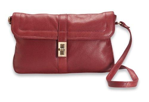Brunhide # 115-300 - Bolso de mano con hebilla - Piel auténtica Rojo