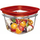 Rubbermaid Easy Find Lid Premier Food Storage Container, Red, 2-cup (FG7H75TRCHILI)