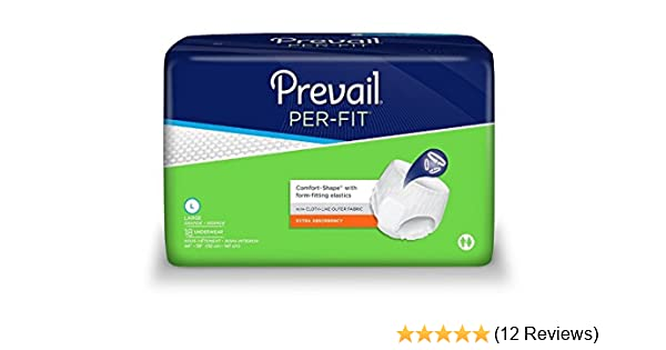 Amazon.com: Prevail Per-Fit Extra Absorbency Incontinence Underwear, Large, 18-Count (Pack of 4): Health & Personal Care