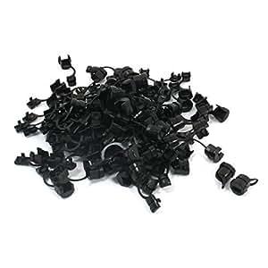 100 piezas de 5,5 mm Anchura de nylon del alambre plano cable clip de liberación de esfuerzo con bujes