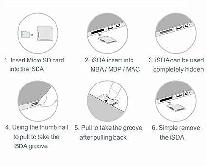 ab 2013 BASEQI FBA/_iSDA504ASV Aluminium-microSDD-Adapter funktioniert mit MacBook Pro 15 Zoll Retina
