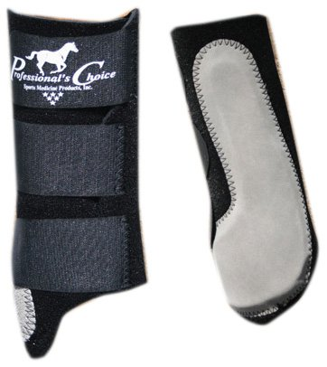 (Professional's Choice Equine Easy-Fit Splint Front Boot, Pair (Universal Size, Black))