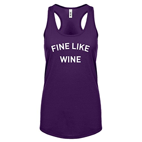 Indica Plateau Racerback Fine Like Wine Small Purple Womens Tank Top