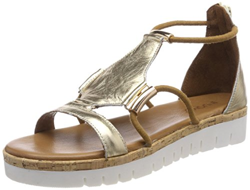 Inuovo Dorado Sandalias Gladiador 8979 de Mujer Gold 16779590 para aarwqv