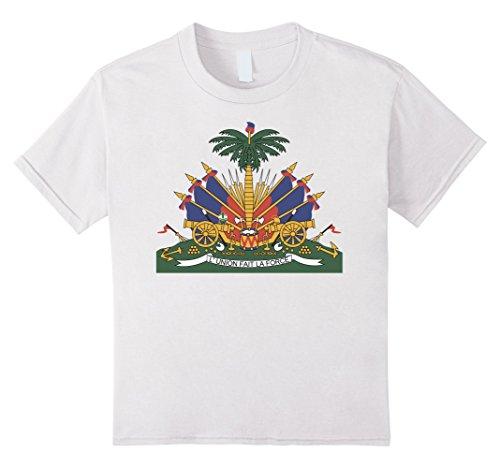 Kids Haiti Coat Of Arms T Shirt National Haitian Emblem tee 10 (Haiti Coat)