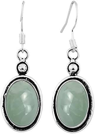 12.00ctw Genuine Gemstone & 925 Silver Plated Dangle Earrings