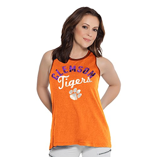 Tigers Womens Tank Top (NCAA Clemson Tigers Women's Homerun T-Back Tank Top, Small, Orange)