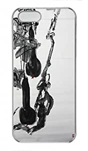 Chinese Ink and wash painting PC Transparent For Iphone 6 Plus 5.5 Phone Case Cover - Calabash