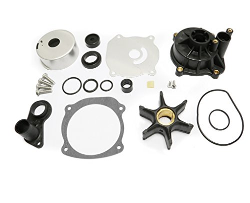Full Power Plus Water Pump Repair Kit Replacement with Housing for Johnson Evinrude V4 V6 V8 85-300HP Outboard Motor Parts 5001594 (Outboard Parts Johnson Motor)