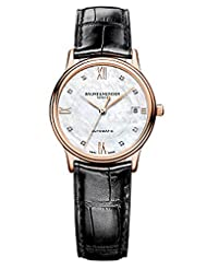 Baume & Mercier Women's A10077 Classima Analog Display Swiss Automatic Black Watch by Baume & Mercier
