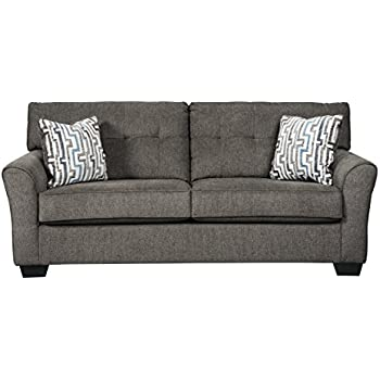 Amazon.com: Benchcraft - Alsen Contemporary Upholstered Sofa ...